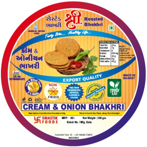 Cream & Onion Rosted Bhakhri Vaccume 200g X 2 Pack