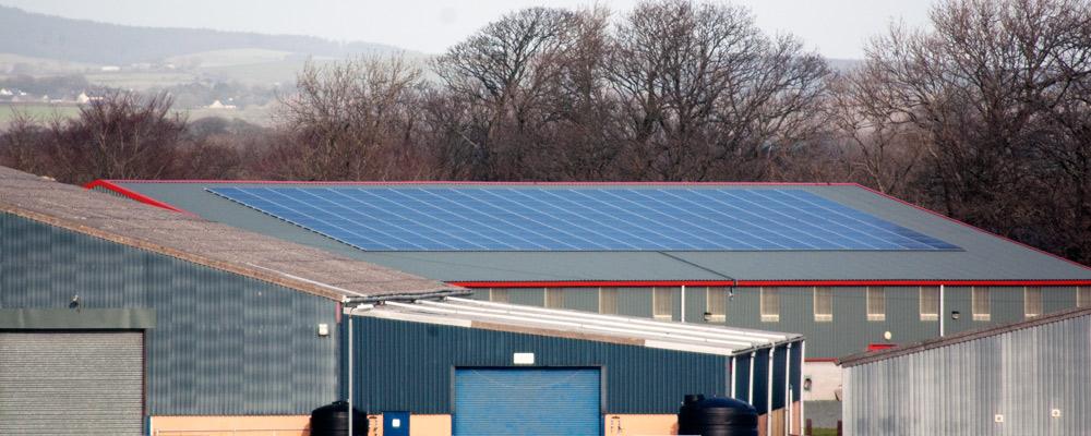 Commercial solar installation at Gravells