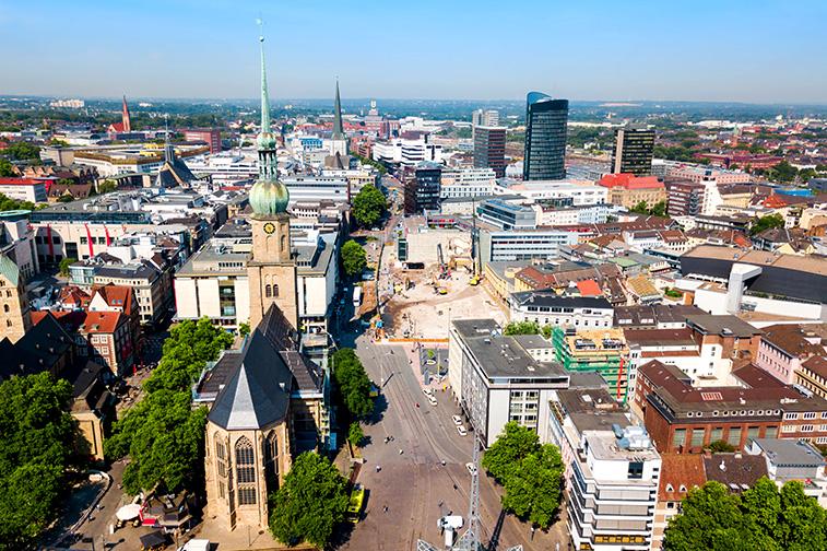 Skyline der Stadt Dortmund