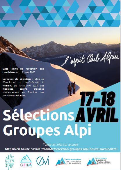 Sélections Groupes Alpinisme CAF Haute Savoie