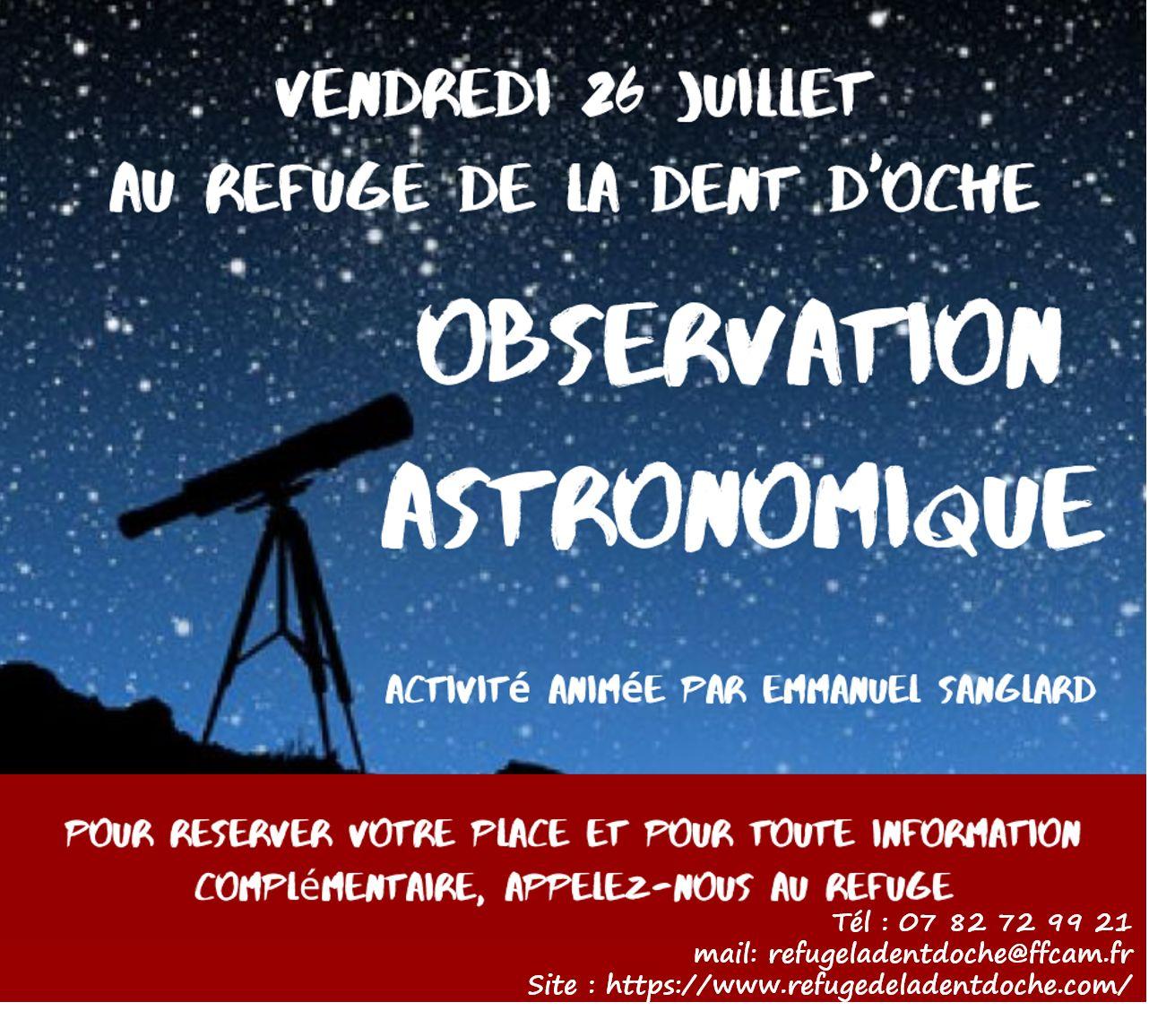 Astronomie Dent d'Oche