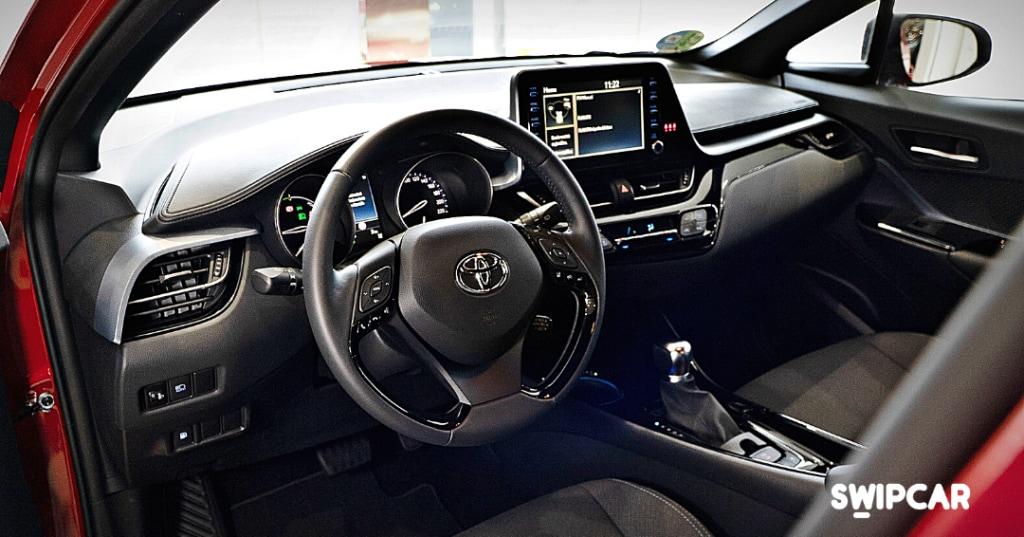 Toyota chr interior renting swipcar