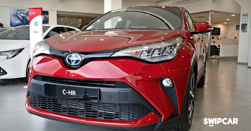 L'esterno della Toyota C-HR