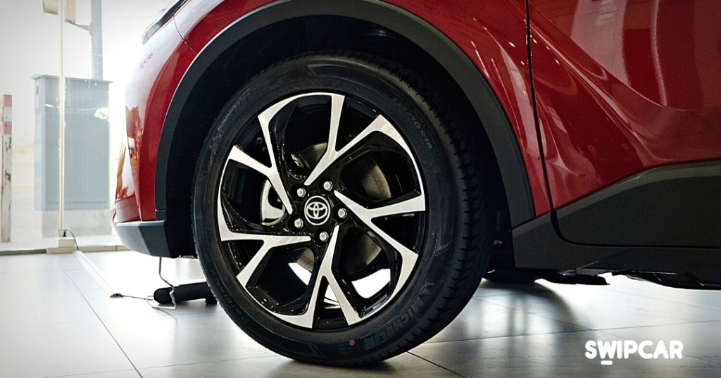 I cerchi in lega da 18 pollici della Toyota C-HR