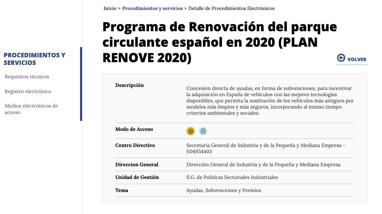 como solicitar plan renove 2020