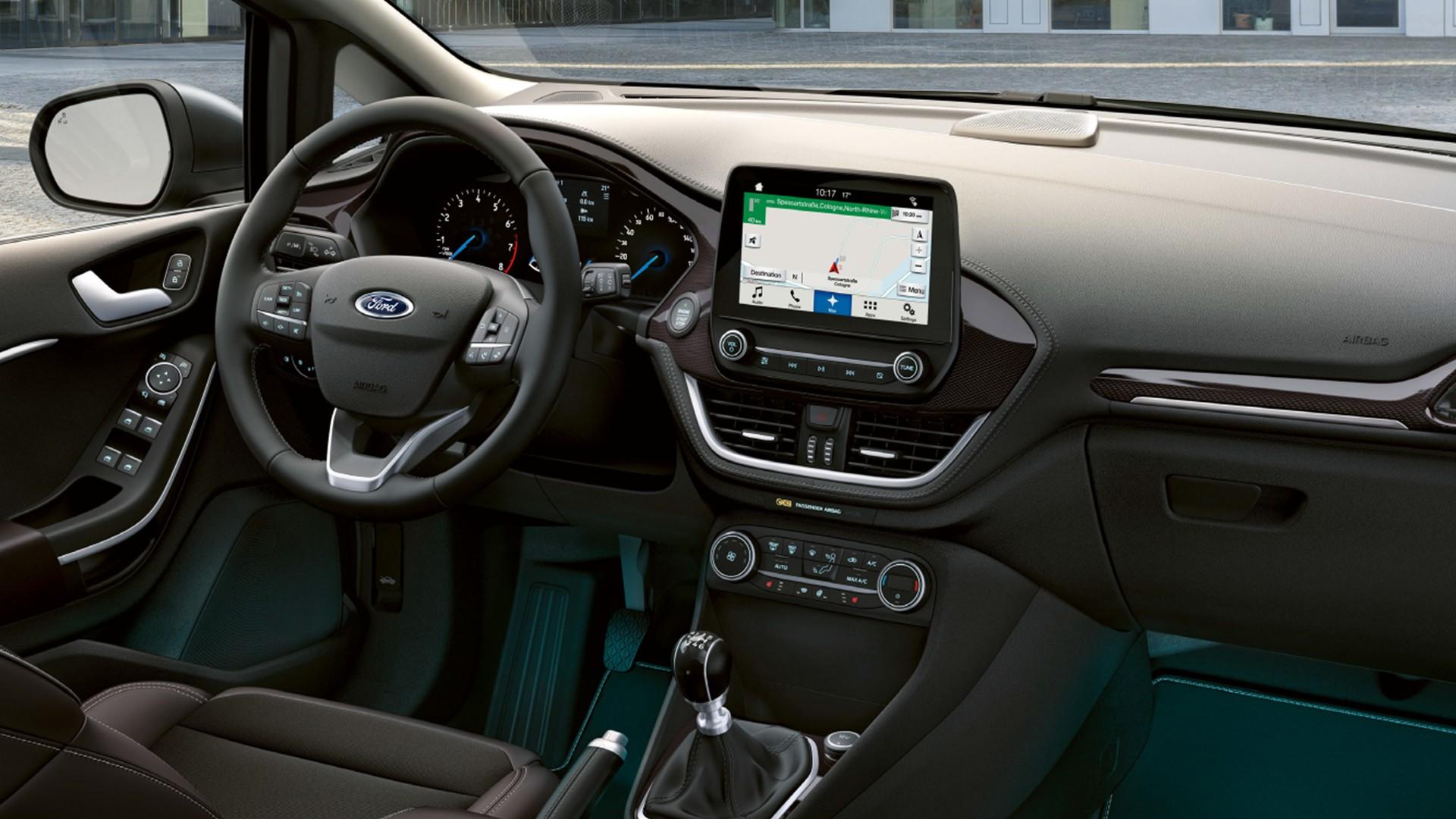 Imagen del interior del Ford Fiesta