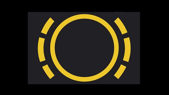 luces detras del volante
