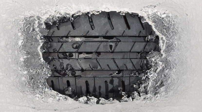 conducción por nieve