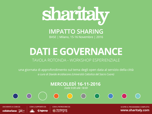 Data as a commons a Sharitaly