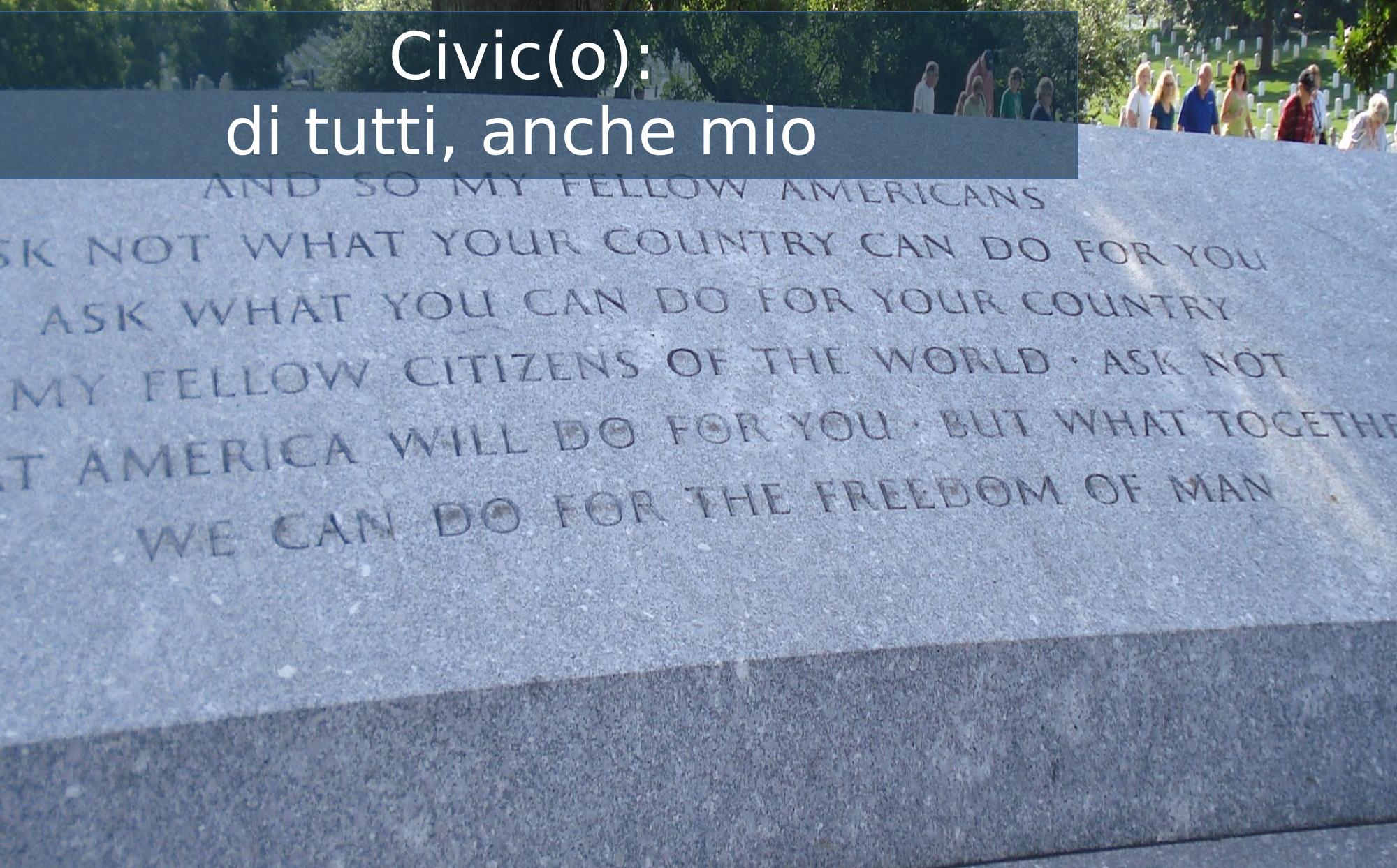 Civico significa che è anche mio. La lapide di Kennedy