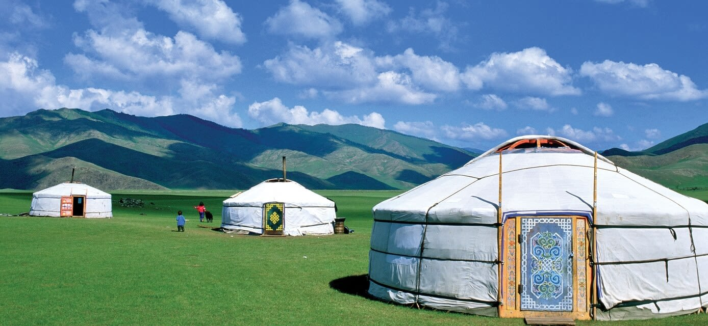 Gers, traditional houses, Mongolia