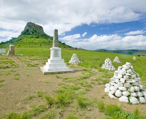 The great Battlefield of Isandlwana and the Oskarber, Zululand, Kwazulu Natal