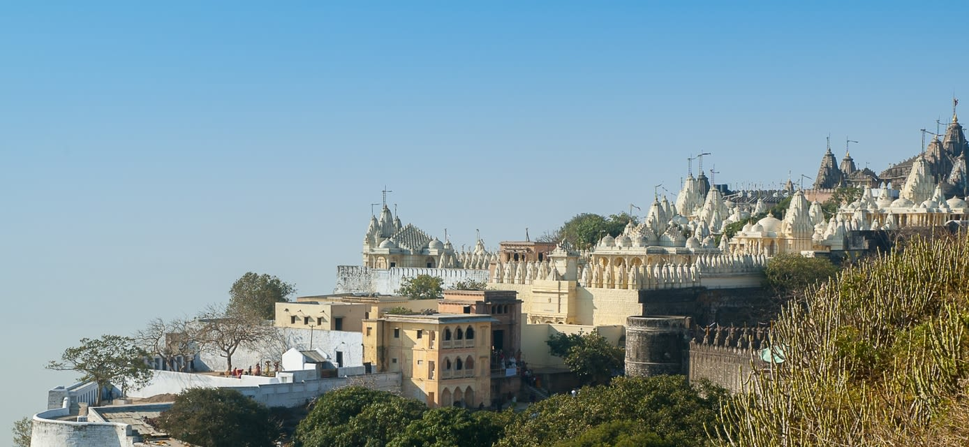Jain temples and shrines on Mt Satrunjaya near Palitana, India
