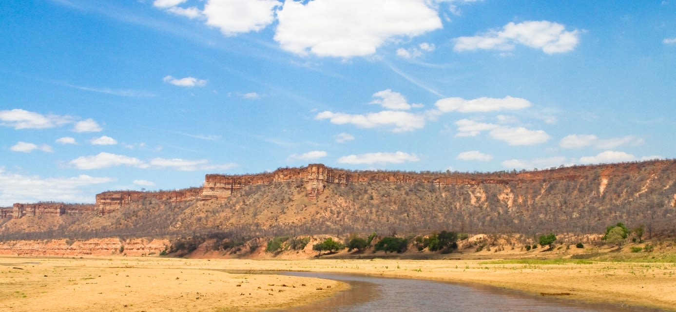 Chilojo cliffs in Gonarezhou National Park, Zimbabwe