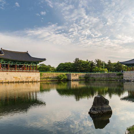 Bell pavilion at Seokguram Grotto in Gyeongju, South Korea