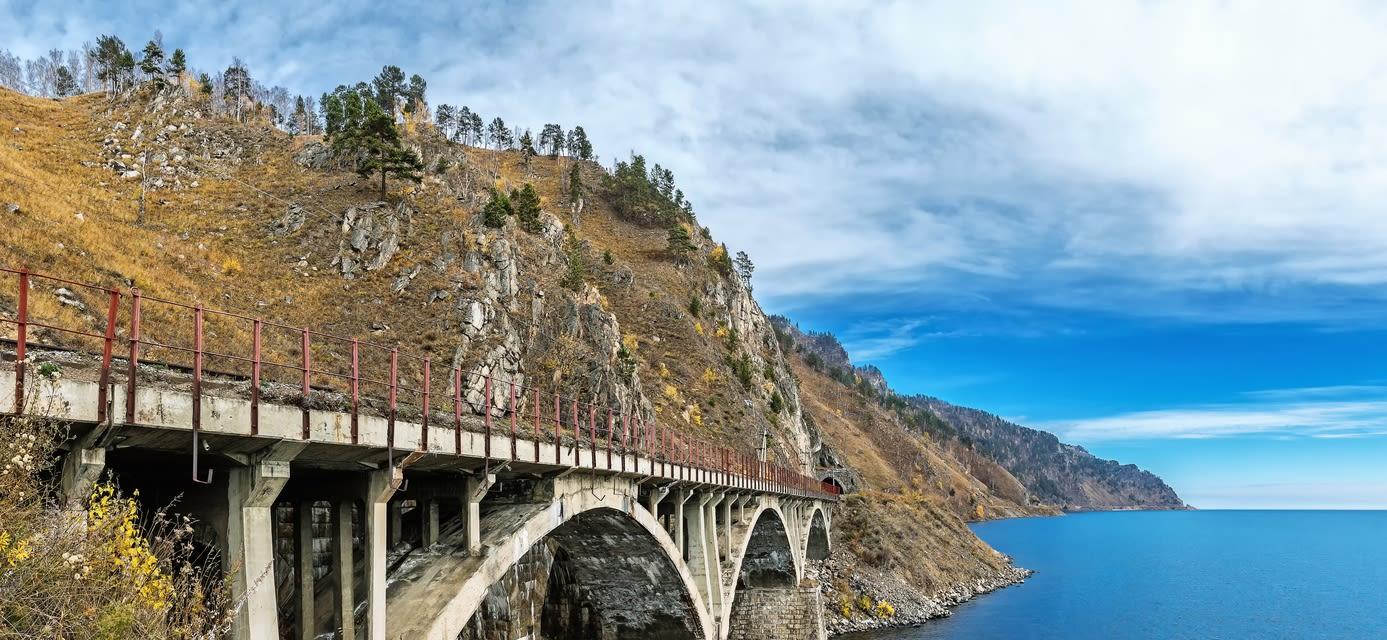 Bridge on the Trans-SIberian railway, Lake Baikal