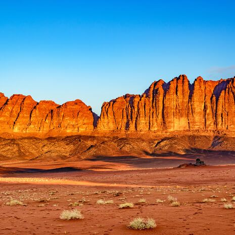 The Mountain of Wadi Rum in Jordan