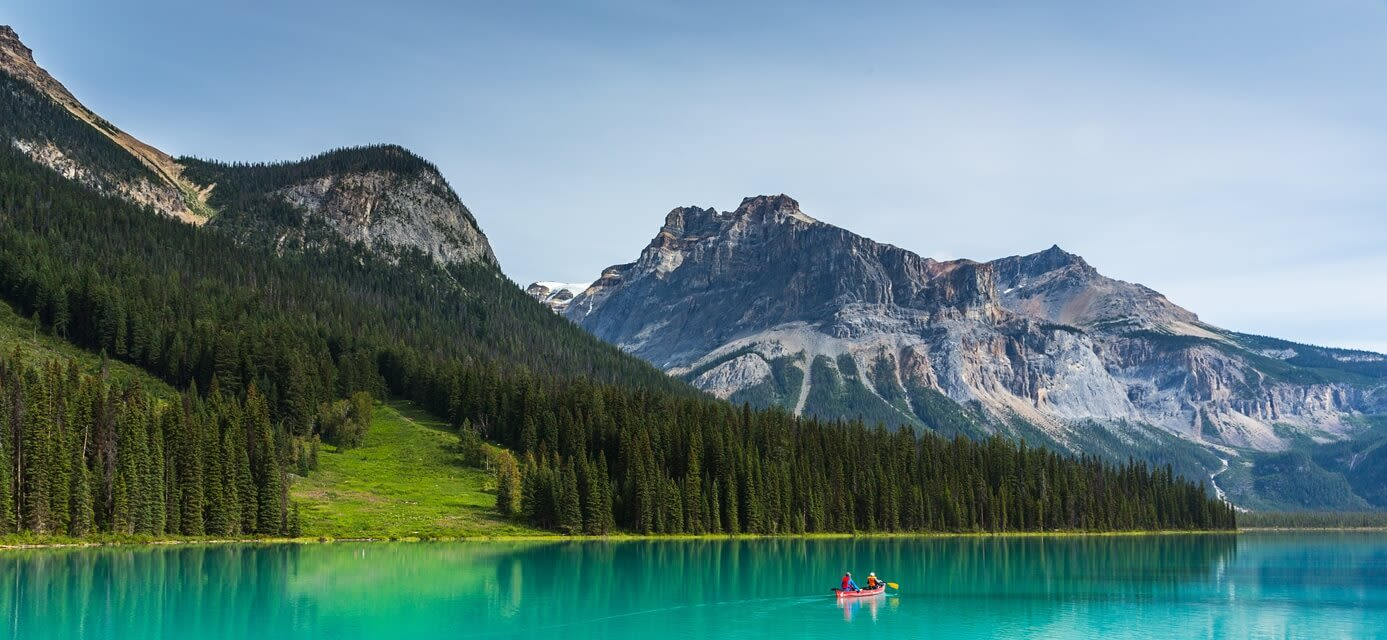 Emerald Lake in the Yoho National Park