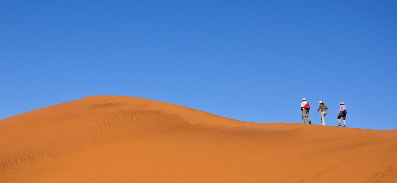 Sand dunes in Nambia