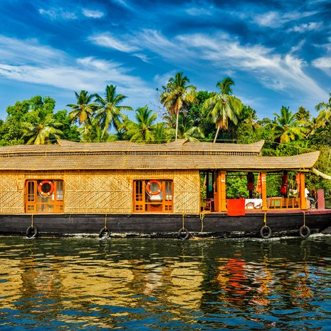 House boat on Kerala backwaters