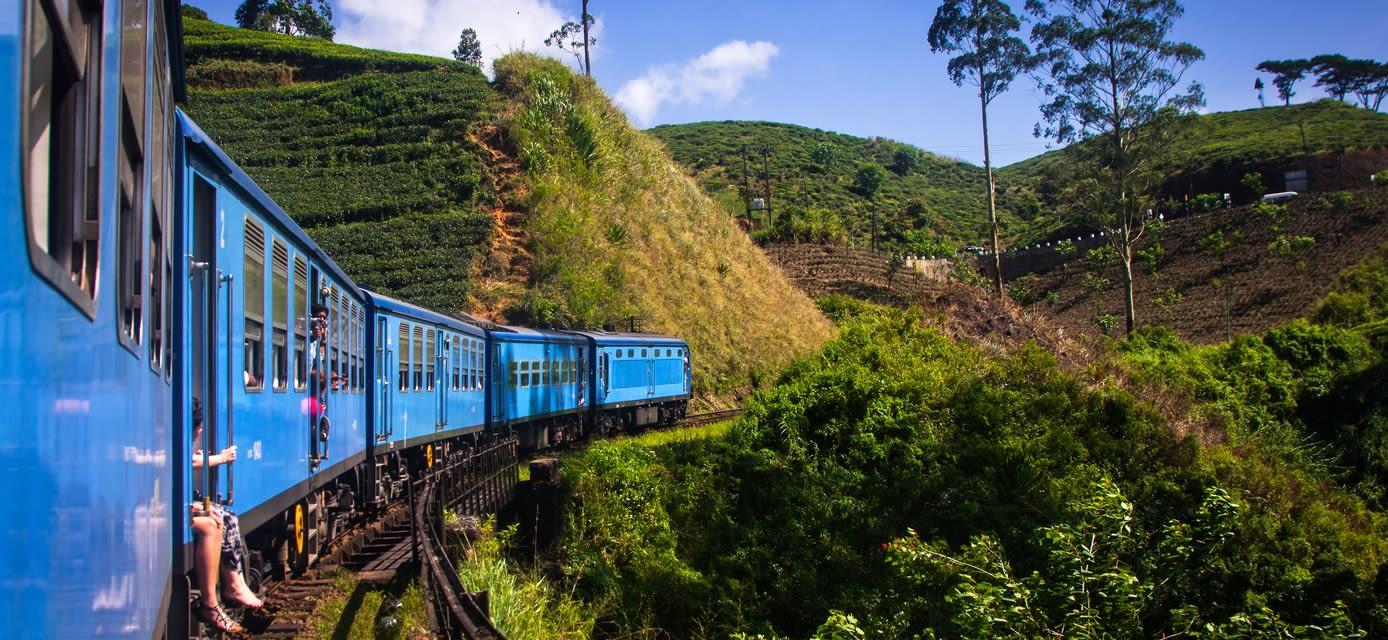 Rail journey in Sri lanka