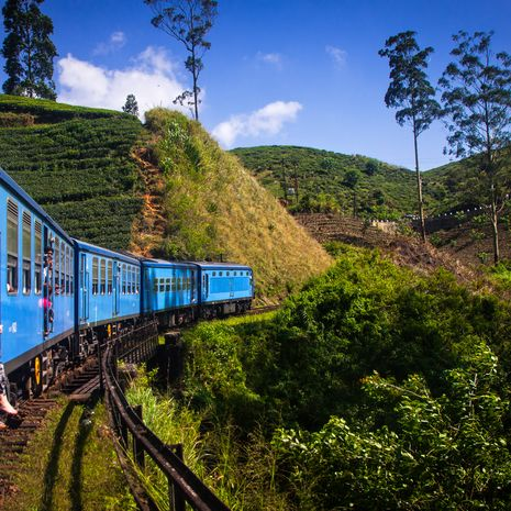 Rail journey in Sri lanka