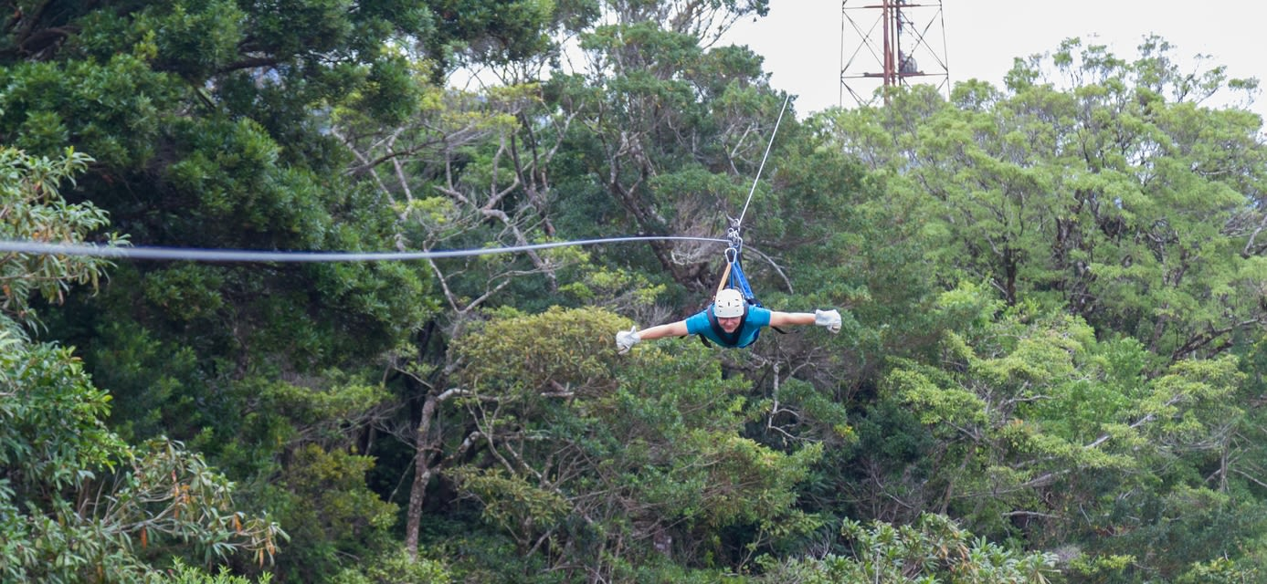 Zip lining in Monteverde, Costa Rica