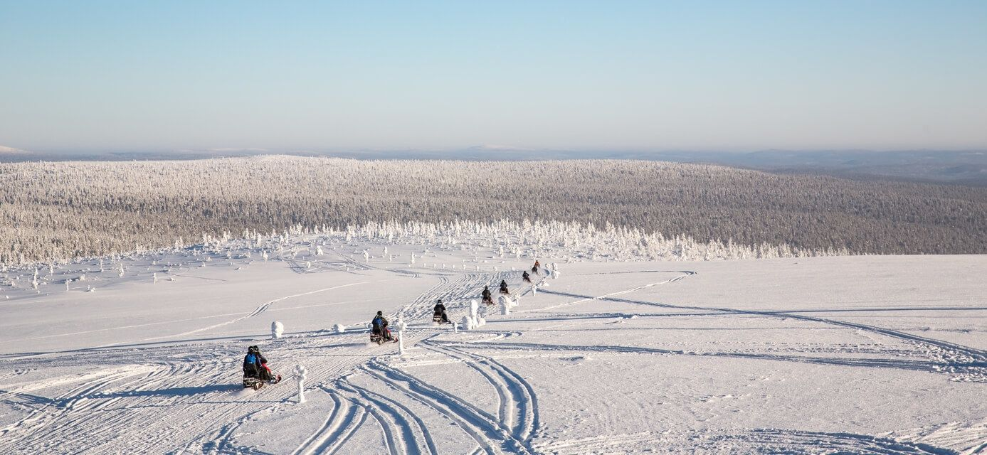 Snow mobiles in Lapland