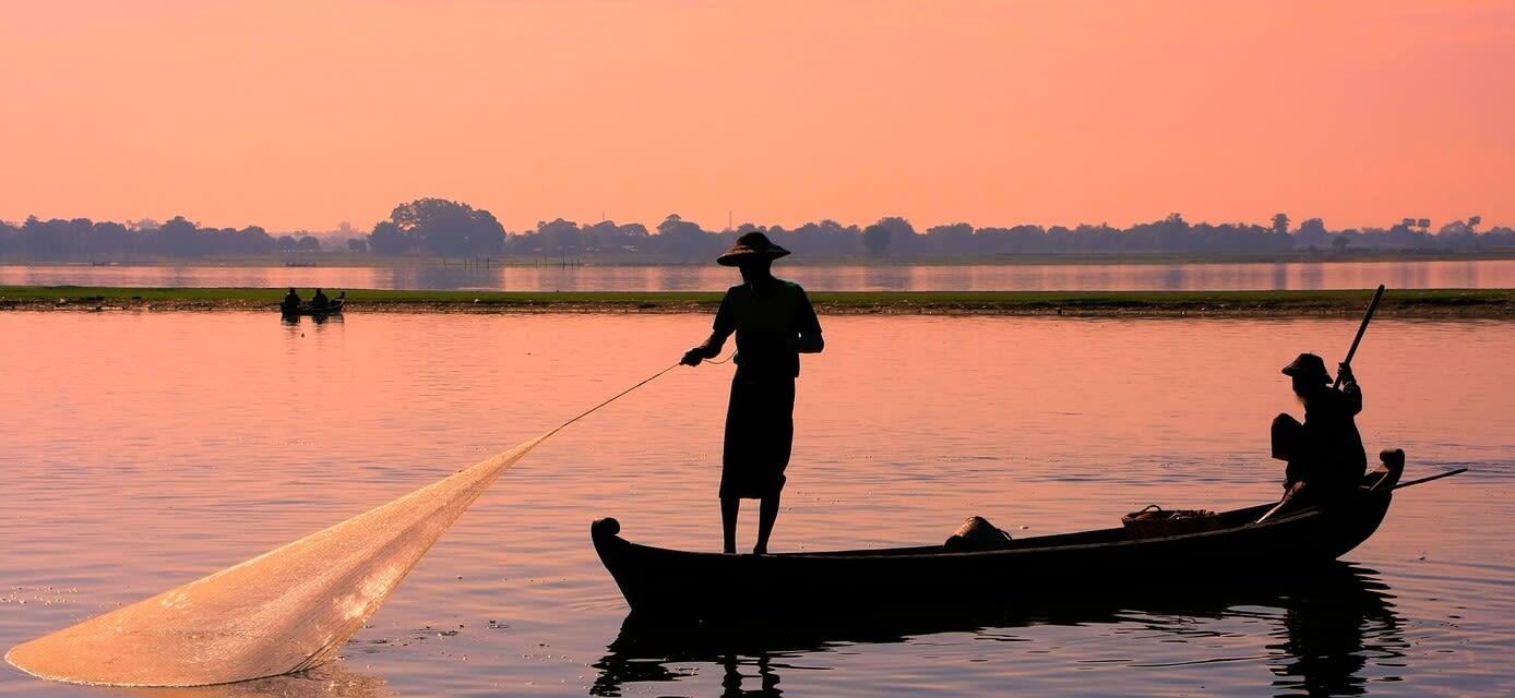 Fisherman on the Irrawaddy