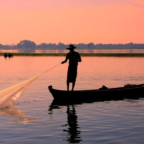 Fisherman on the Irrawaddy