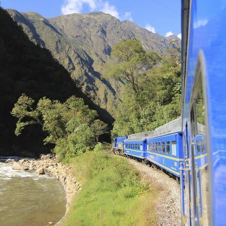 Train from Cuzco to Machu Picchu