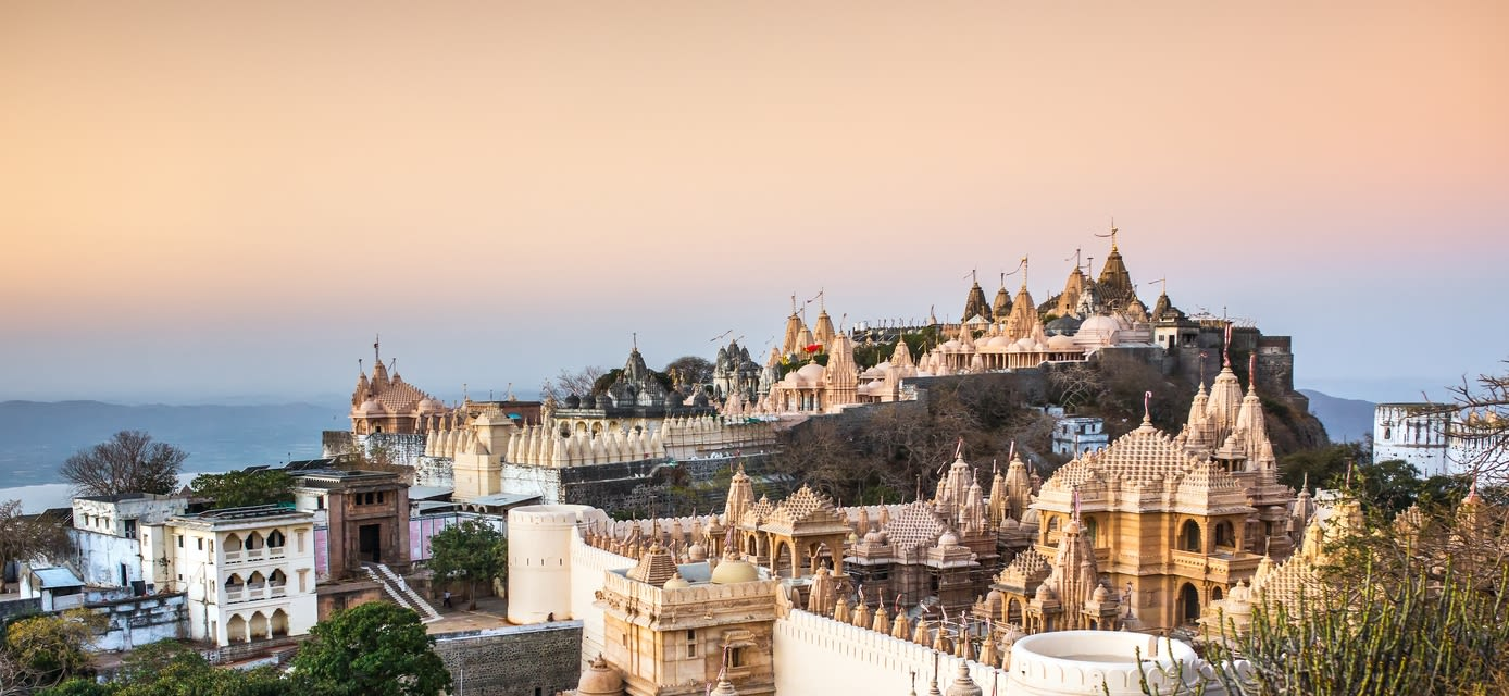 Sunset over the Jain Temples, India