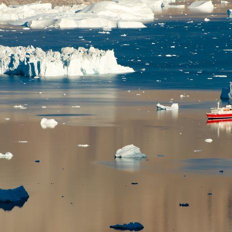 Icebergs, Scoresby Sound, Greenland