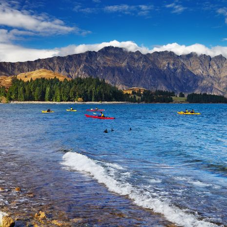 Wakatipu Lake and Ramarkables Mountains, South Island