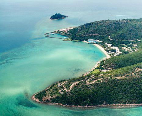 Aerial view, Hamilton Island