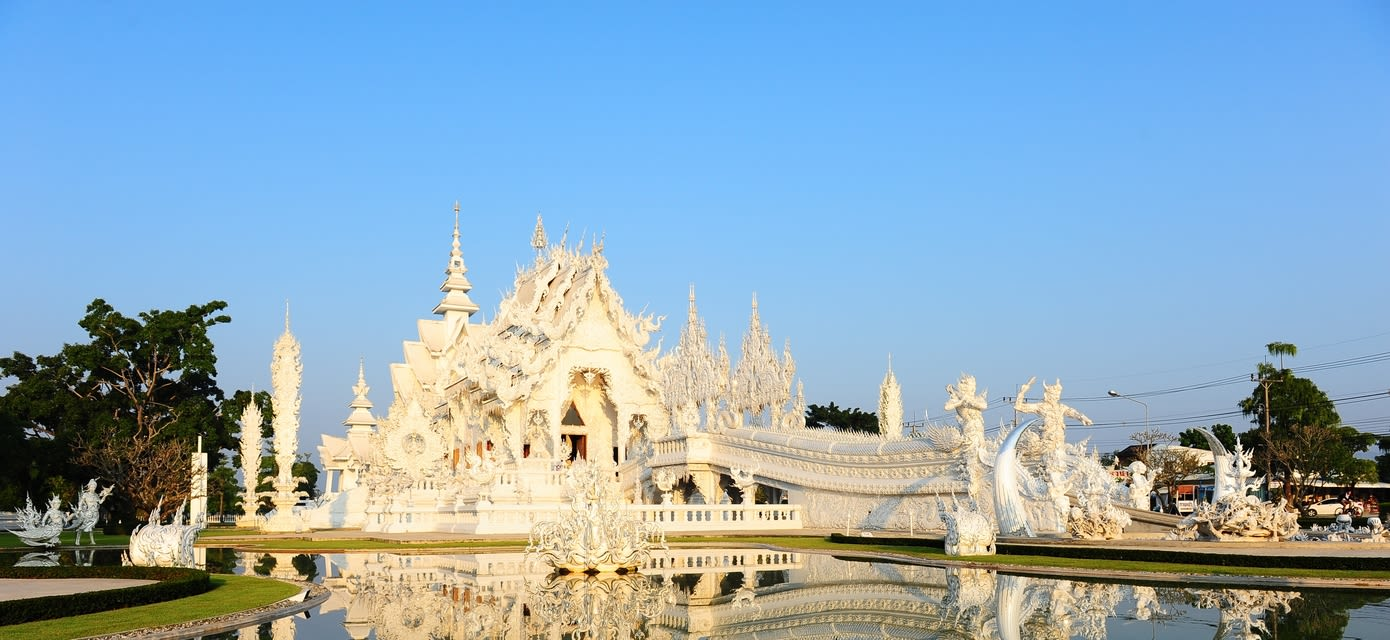 Marble temple in Thailand