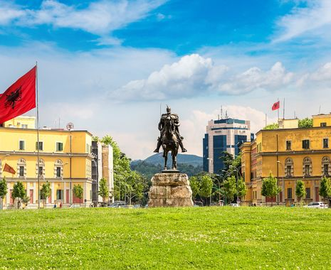 Skanderbeg square and Skanderbeg monument