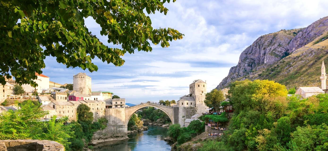 Mostar, valley of the Neretva River