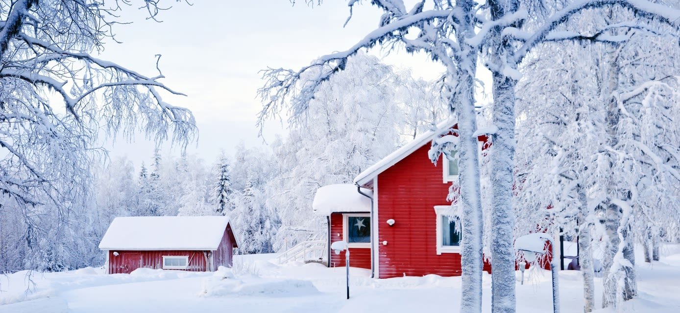 Red houses, Finland