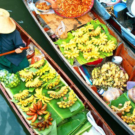 Damnoen Saduak floating market, Ratchaburi, Thailan