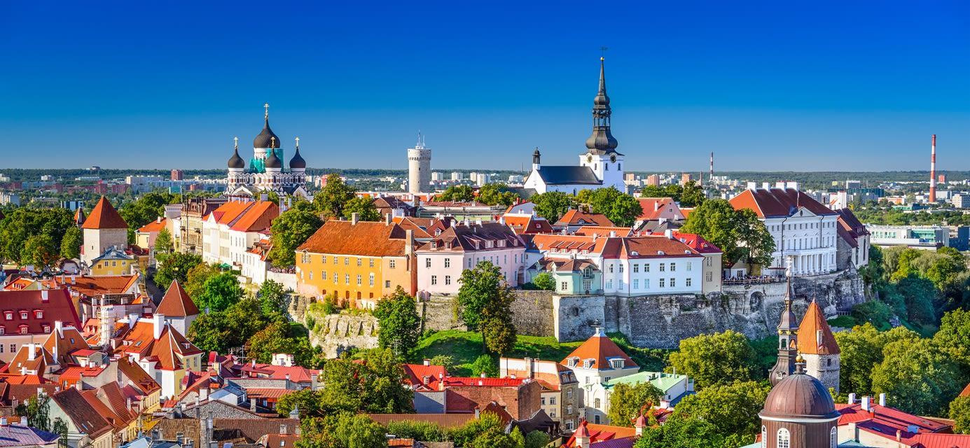 Old town skyline of Toompea Hill, Tallinn, Estonia