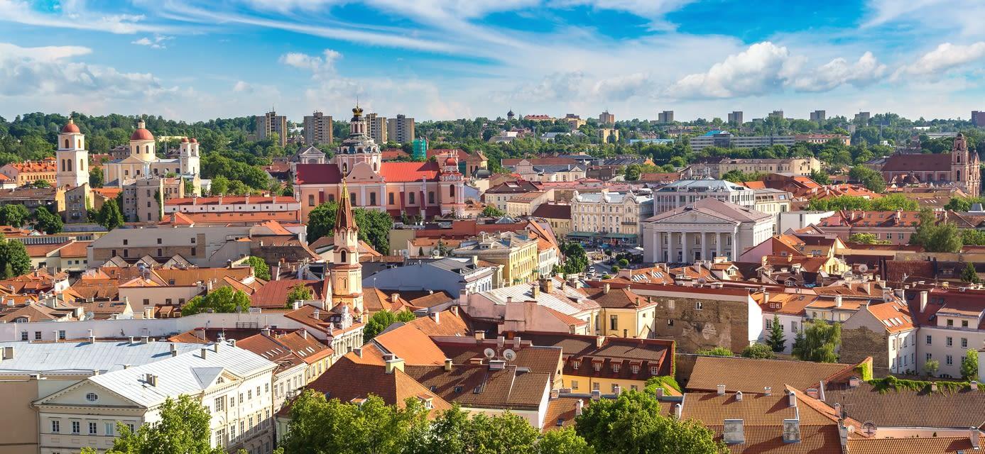 Lithuania, Vilnius cityscape