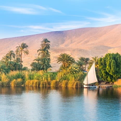 River Nile in Luxor, Egypt