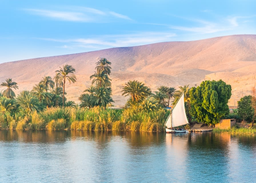 Felucca on the River Nile, Luxor