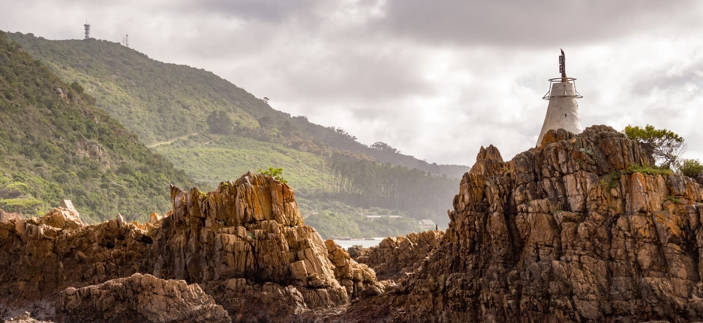 Sandstone Tidepools at the Base of Knysna Heads, Knysna, Garden Route, South Africa