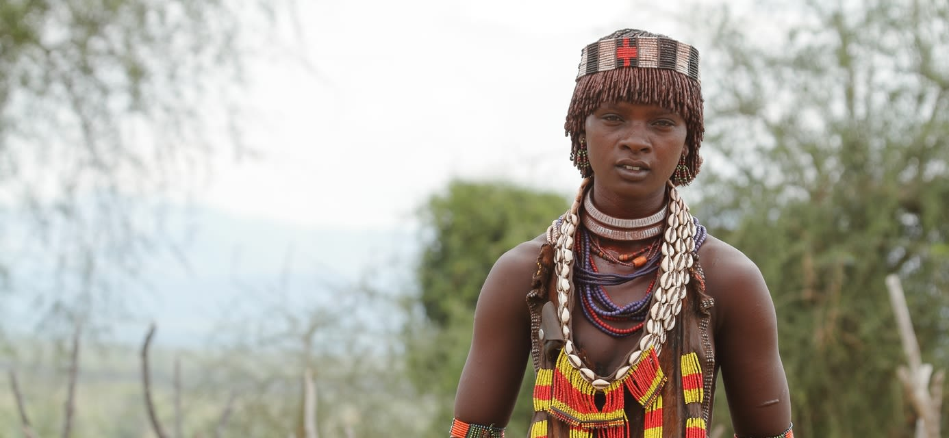 The tribe of Hamar, Omo Valley, Ethiopia