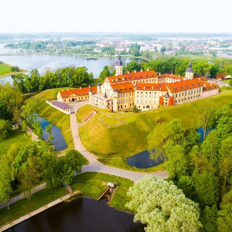 Medieval castle in Nesvizh, Minsk Region, Belarus