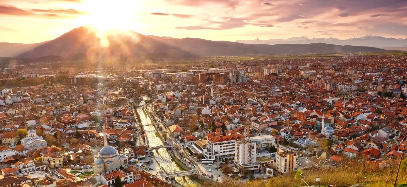 Rooftop view of Prizren, Kosovo