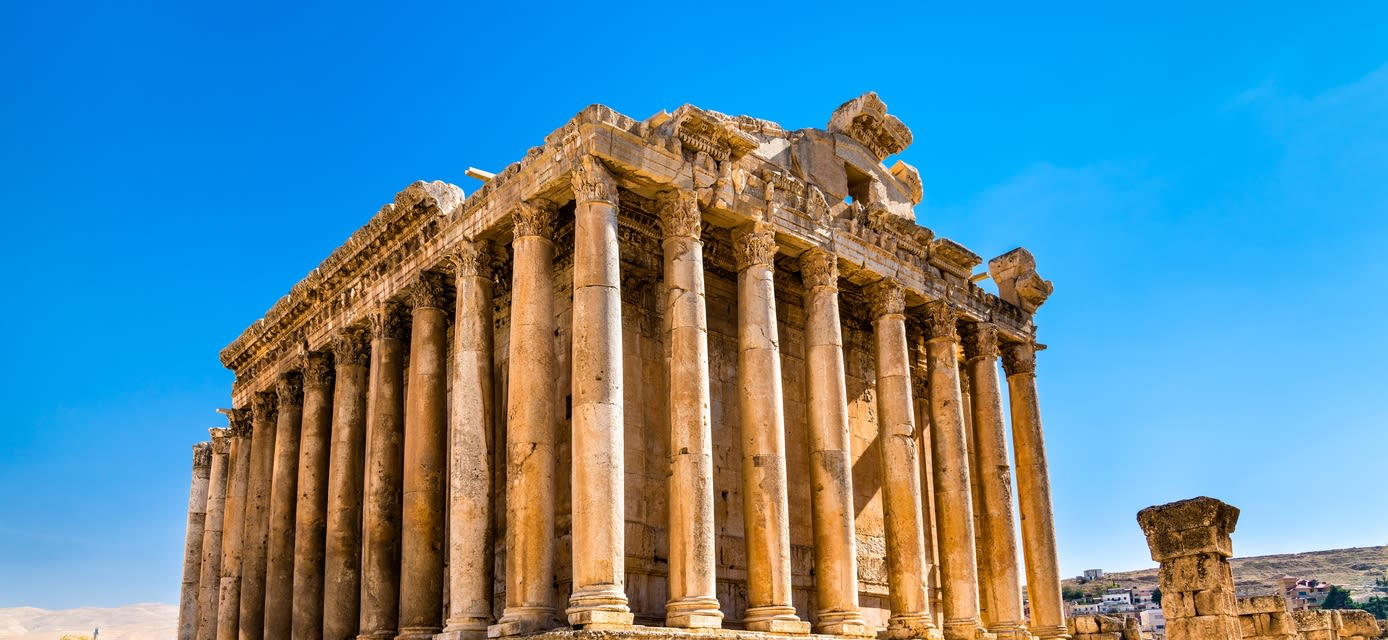 Roman temple of Bacchus at Baalbek in Lebanon