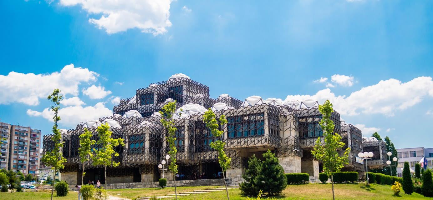 National Public Library in Pristina, Kosovo